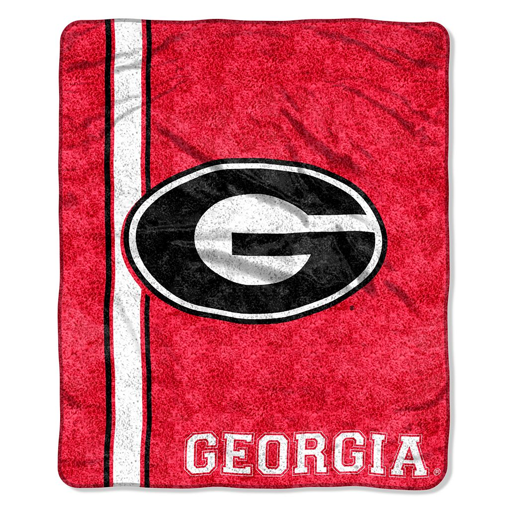 Georgia Bulldogs Sherpa Throw Blanket