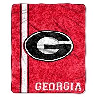 Georgia Bulldogs Sherpa Throw Blanket