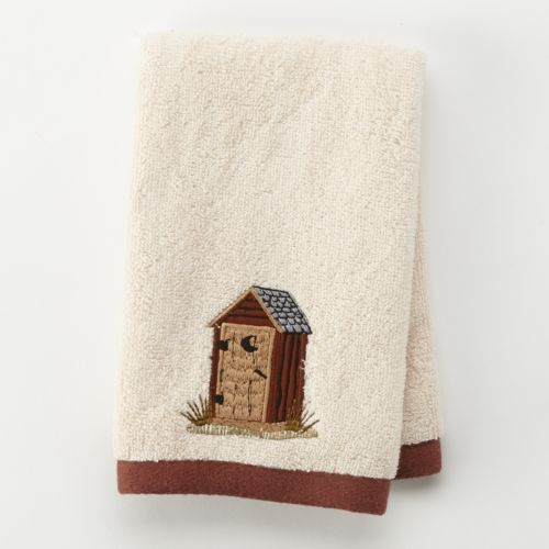 Outhouse Embroidered Fingertip Towel