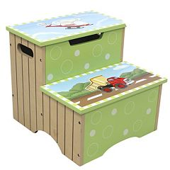 Teamson Kids Fantasy Fields Transportation Storage Step Stool by