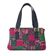 Donna Sharp Reese Quilted Patchwork Satchel