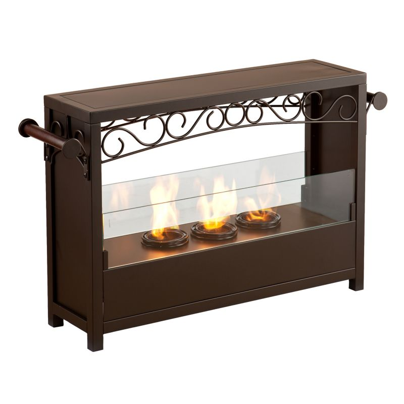 Glass Gel Fuel Fireplace