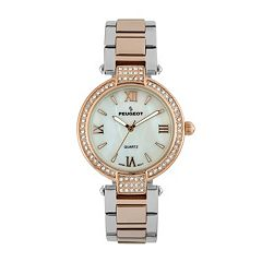 Peugeot Women's Two Tone Crystal Watch - 7084TTR