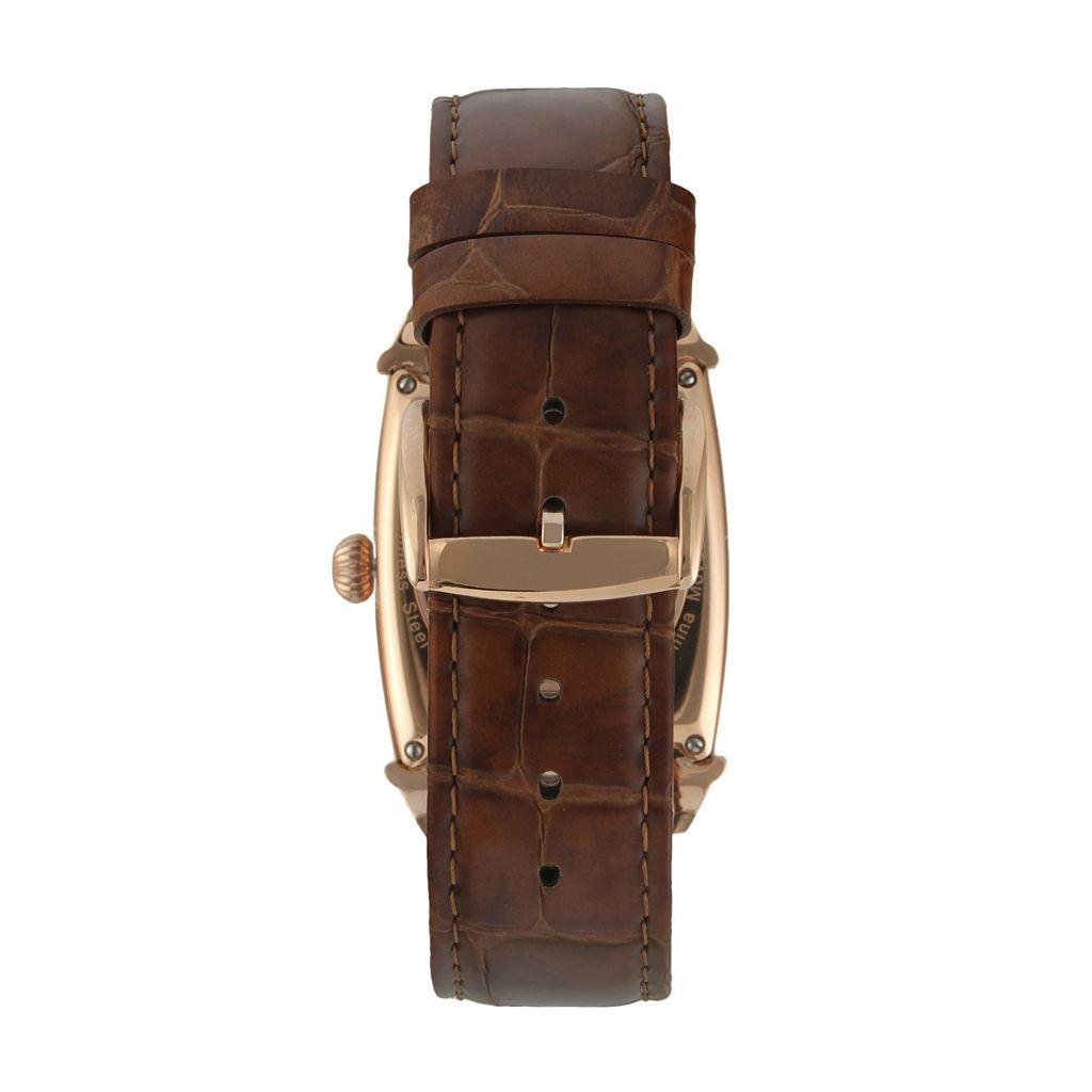 Peugeot Men's Automatic Leather Skeleton Watch - MK901RG