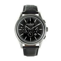 Peugeot Men's Automatic Leather Skeleton Watch - MK910SBK