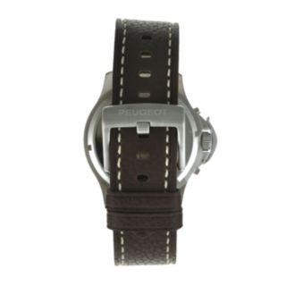Peugeot Men's Automatic Leather Skeleton Watch - MK912TBR