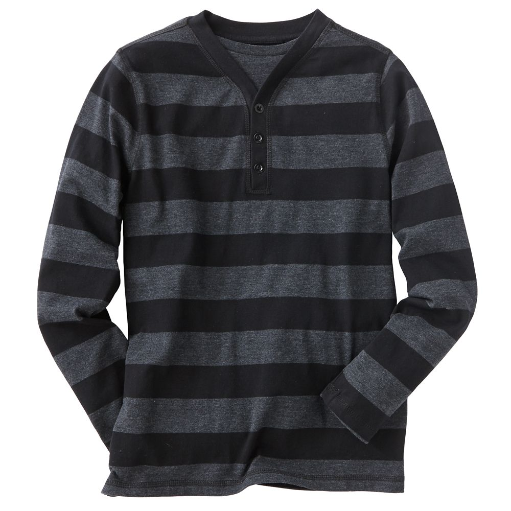 Boys 8-20 Helix Striped Fakie Henley