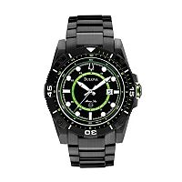 Bulova Marine Star Stainless Steel Black Ion Watch - 98B178 - Men