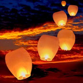 LumaBase 4-pc. Sky Lantern Set - Outdoor