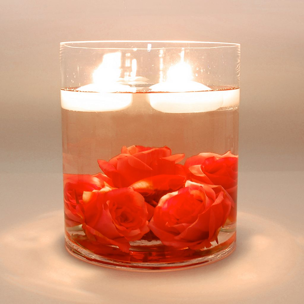 LumaBase 12-pk. Small Floating Candles - Indoor and Outdoor