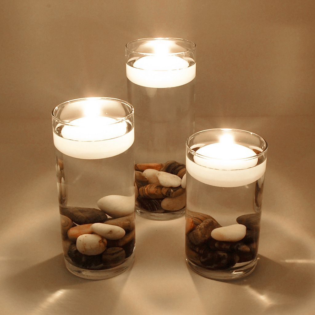 LumaBase 12-pk. Large Floating Candles- Indoor and Outdoor