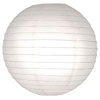 LumaBase 5-pk. Round Paper Lanterns - Indoor & Outdoor