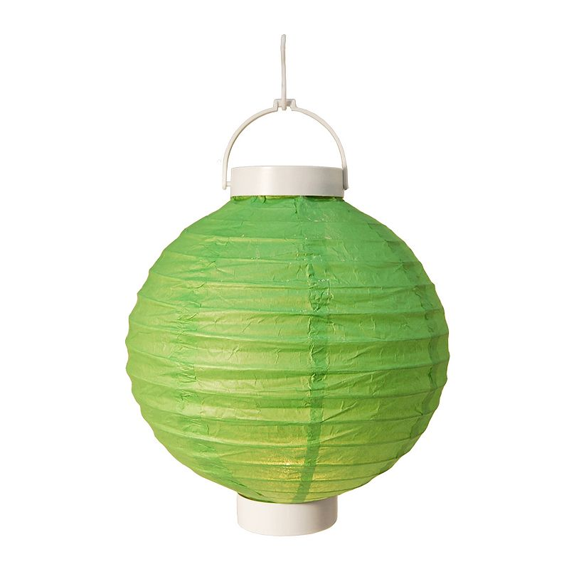 LumaBase Round Paper Lantern Electric String Lights Indoor And Outdoor