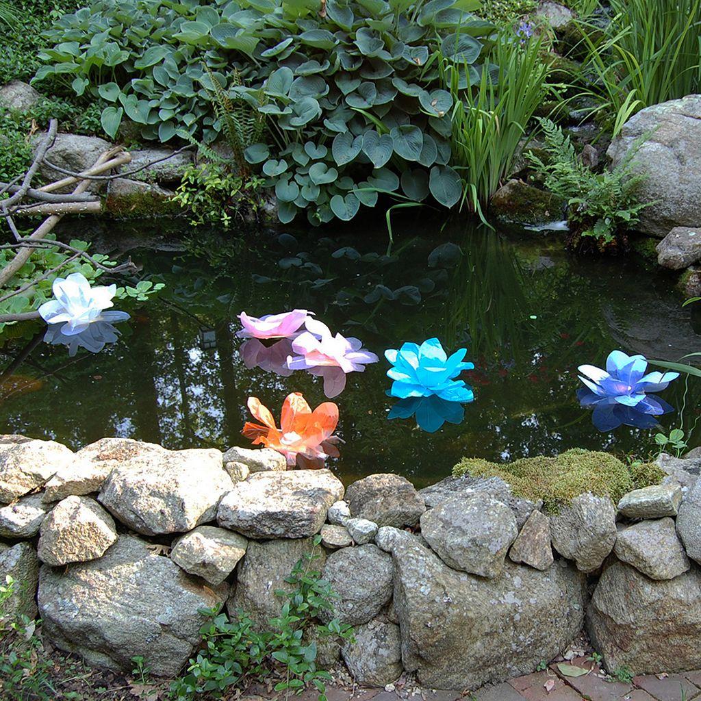 LumaBase 6-pk. Lotus Floating Paper Lanterns - Outdoor