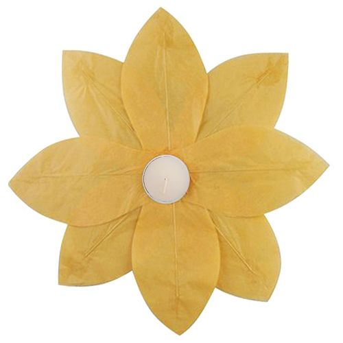 LumaBase 6-pk. Lotus Floating Paper Lanterns - Outdoor
