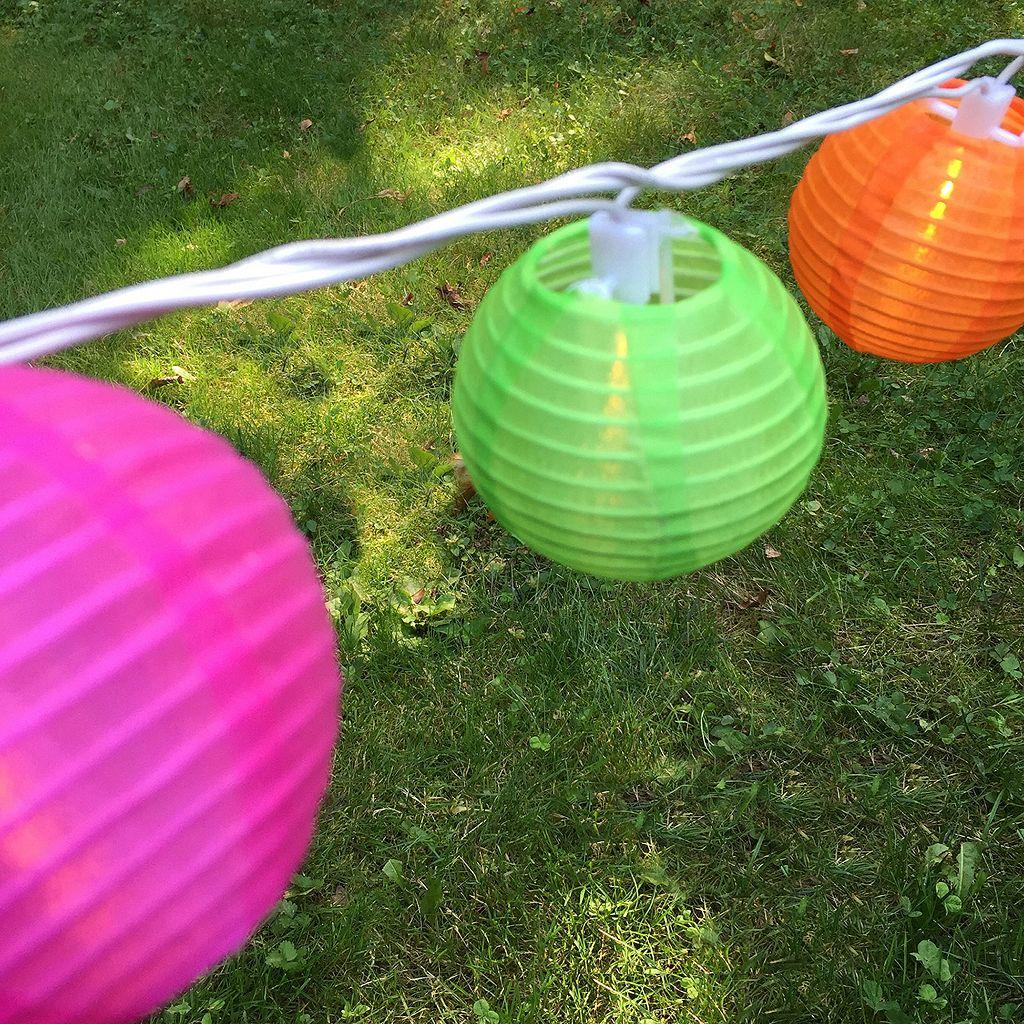 LumaBase Indoor / Outdoor Round Nylon Lantern String Lights