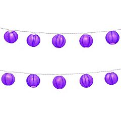 LumaBase Indoor / Outdoor Round Nylon Lantern String Lights