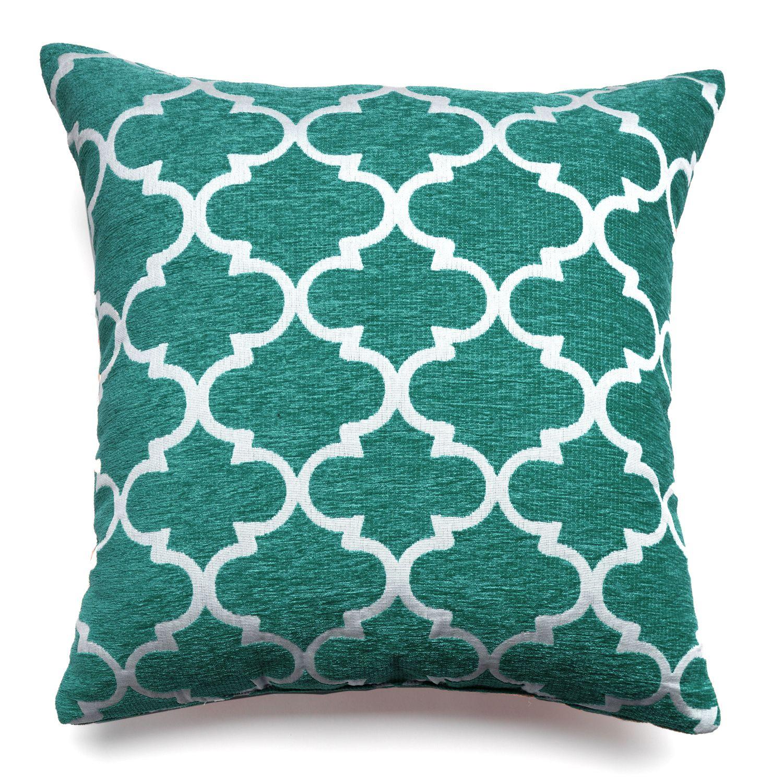 Home Decor Club Lattice Throw Pillow