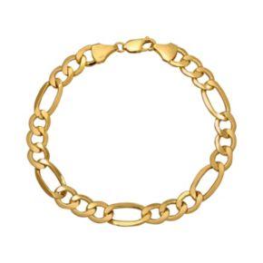 Everlasting Gold 10k Gold Figaro Bracelet - Men