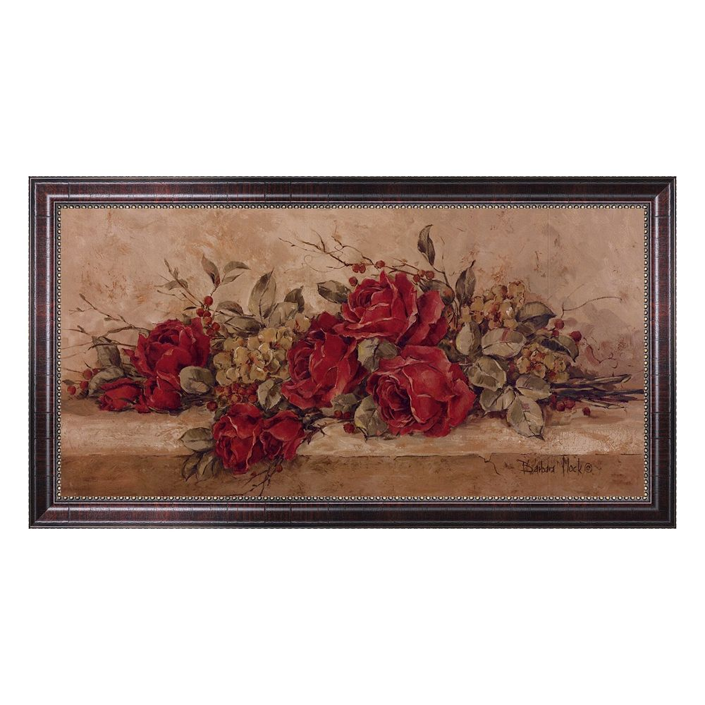 """""""Roses To Remember"""" Framed Canvas Wall Art by Barbara Mock"""