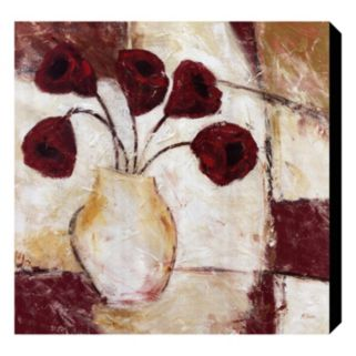 Red Flowers II Canvas Wall Art by Dan McShane