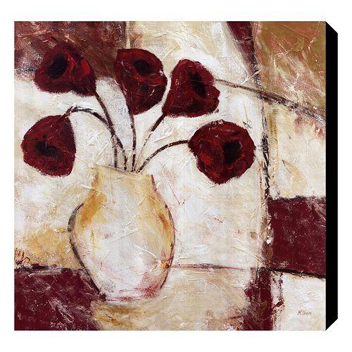 """Red Flowers II"" Canvas Wall Art by Dan McShane"