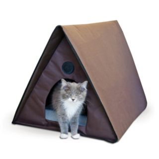 K and H Pet Outdoor Multiple Cat Shelter A-Frame