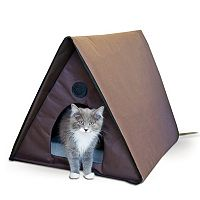 K&H Pet Outdoor Heated Multiple Cat Shelter A-Frame