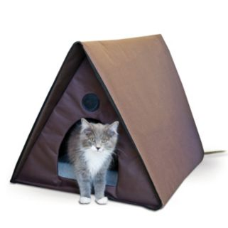 K and H Pet Outdoor Heated Multiple Cat Shelter A-Frame