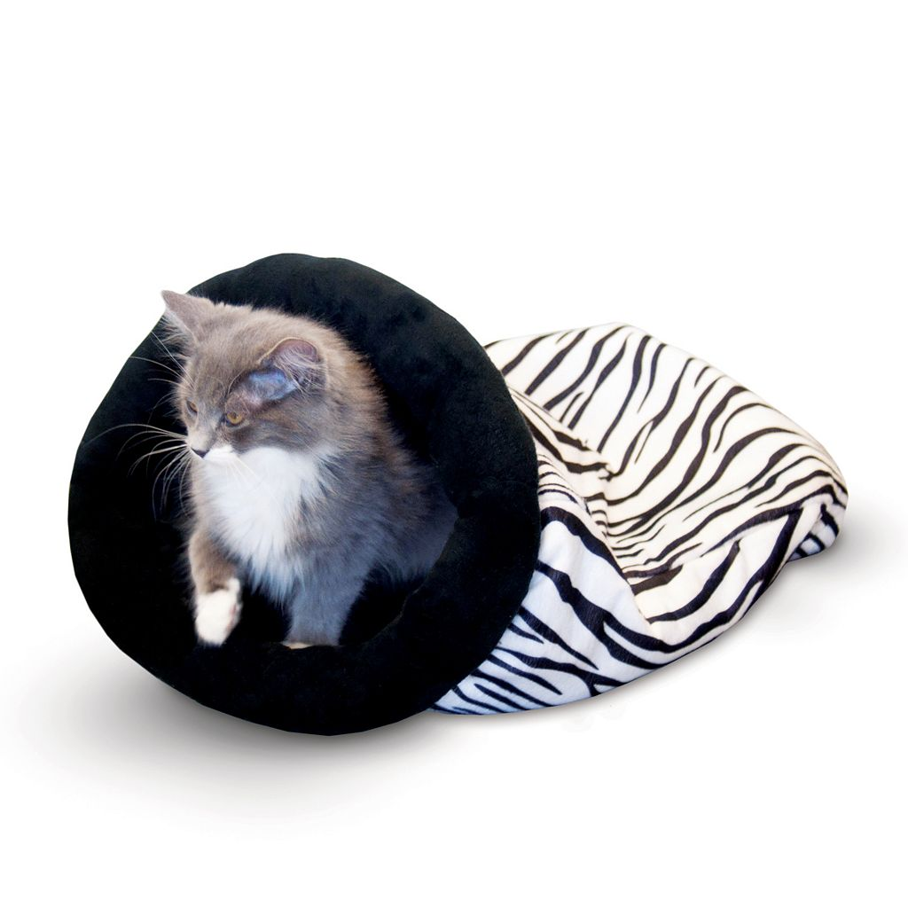 K&H Pet Zebra Self-Warming Kitty Sack