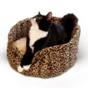 K&H Pet Leopard Lazy Cup Round Pet Bed - 16''