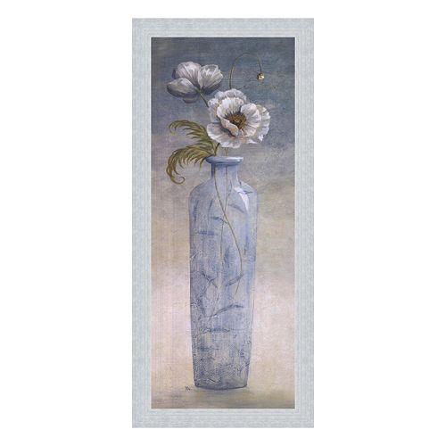 """Blue Crystal I"" Framed Canvas Wall Art by Viv Bowles"