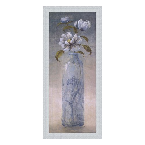 """Blue Crystal II"" Framed Canvas Wall Art by Viv Bowles"