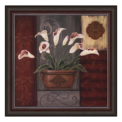 """Symphony In White I"" Framed Canvas Wall Art by Jo Moulton"