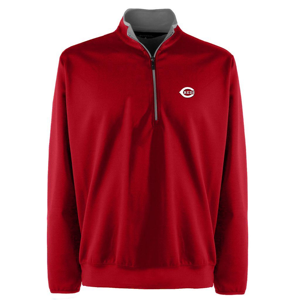 Men's Cincinnati Reds 1/4-Zip Leader Pullovers