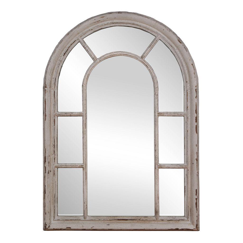 Rustic Windowpane Mirror