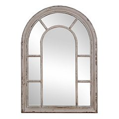 Rustic Windowpane Mirror