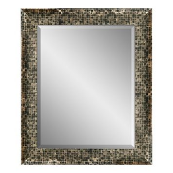 Checkered Framed Beveled Wall Mirror