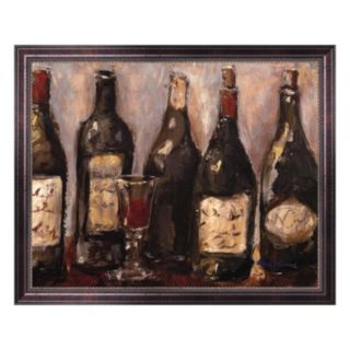 Wine Bar with French Glass Framed Canvas Wall Art by Nicole Etienne