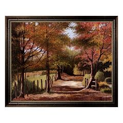 'Autumn Country Road' Framed Canvas Wall Art by Lene Alston Casey