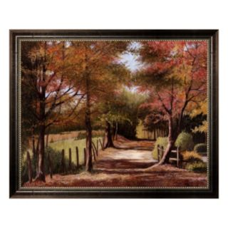 Autumn Country Road Framed Canvas Wall Art by Lene Alston Casey