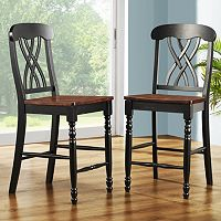 HomeVance 2 pc Casual Countryside Counter Height Chair Set