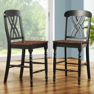HomeVance 2-pc. Casual Countryside Counter Height Chair Set