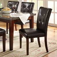 HomeVance 2 pc Conrad Tufted Dining Chair Set