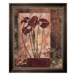 Jeweled Iris I Framed Canvas Wall Art By Maria Donovan
