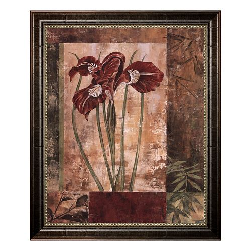 """""""Jeweled Iris I"""" Framed Canvas Wall Art by Maria Donovan"""