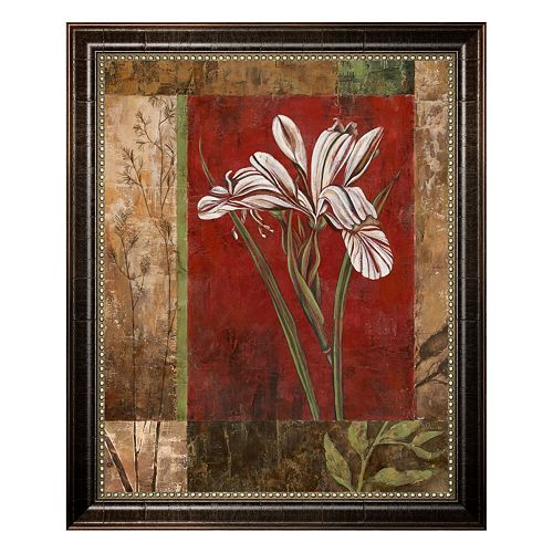 """Jeweled Iris II"" Framed Canvas Wall Art by Maria Donovan"