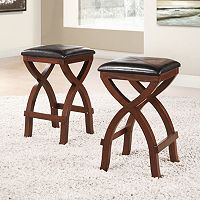 HomeVance 2-pc. Simon Stool Set