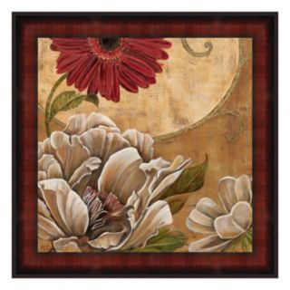 Floral Aura I Framed Canvas Wall Art By Maria Donovan