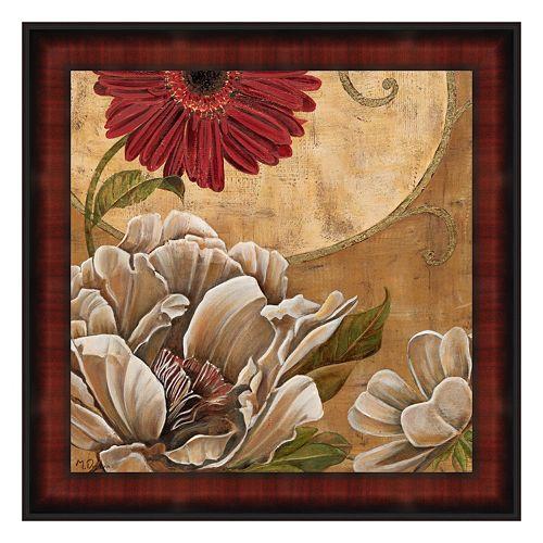 """Floral Aura I"" Framed Canvas Wall Art by Maria Donovan"
